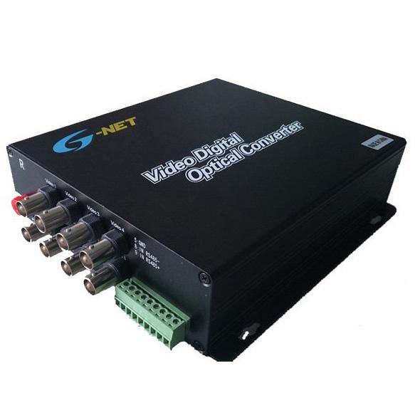Bộ biến đổi video converter qua cáp quang 4 kênh